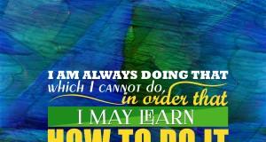 Aprenda inglês com citações #12: I am always doing that... [Pablo Picasso]