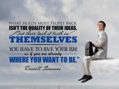 Aprenda inglês com citações #14: What holds most people back... [Russell Simmons]