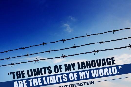 "Aprenda inglês com citações: ""The limits of my language are the limits of my word."" - Ludwig Wittgenstein"