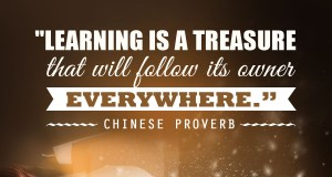 "Aprenda inglês com citações #5: ""Learning is a treasure that will follow its owner everywhere."" - Chinese Proverb"
