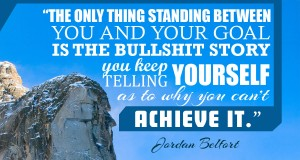 Aprenda inglês com citações #8: The only thing standing between you and... [Jordan Belfort]