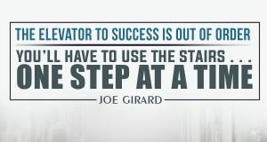 Aprenda inglês com citações #20: The elevator to success is...