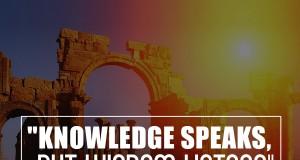 Aprenda inglês com citações #22: Knowledge speaks...