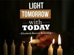 Aprenda inglês com citações #36: Light tomorrow with...