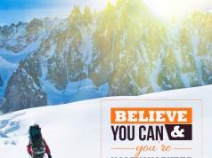 Aprenda inglês com citações #31: Believe you can and...