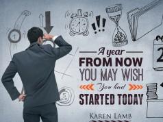 Aprenda inglês com citações #37: A year from now you may...