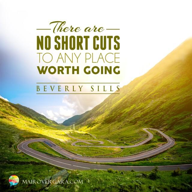 Aprenda inglês com citações #34: There are no shortcuts to...