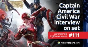 Aprendendo Inglês Com Vídeos #111: Captain America Civil War Cast Interviews