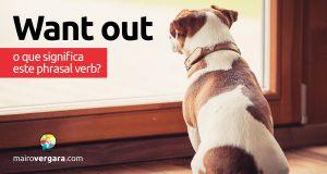Want Out | O que significa este phrasal verb?