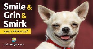 Qual a diferença entre Smile, Grin e Smirk?